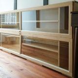 2階の横置きのキャビネット完成 (IKEAのBILLYをリフォーム)