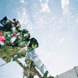 フィルムカメラで多重露光(大阪 法円坂+花壇)